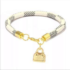 Genuine Leather Gold Plated Purse Bracelets